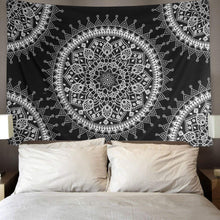 Load image into Gallery viewer, Hippie Black Mandala Tapestry - Tapestry Girls