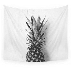 Black and White Pineapple Tapestry - Tapestry Girls