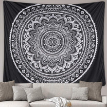 Load image into Gallery viewer, Black Mandala Tapestry - Tapestry Girls