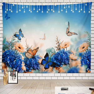 The Blue Butterfly Tapestry - Tapestry Girls
