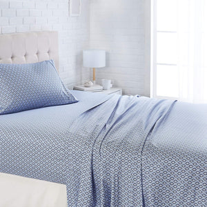 Damask Blue Sheet Sets - Tapestry Girls