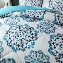 Load image into Gallery viewer, Blue Green Mandala Bedding - Tapestry Girls