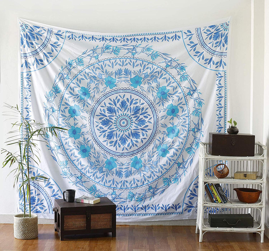 Blue Floral Tapestry - Tapestry Girls