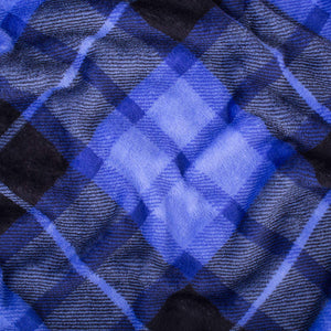 Blue Plaid Fleece Blanket - Tapestry Girls