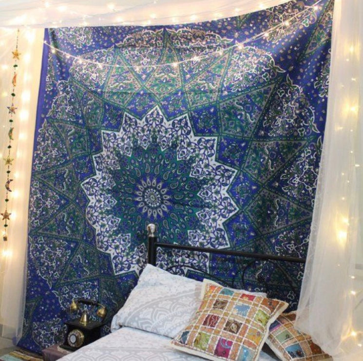 Blue Star Mandala Tapestry - Tapestry Girls