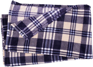 Blue and Yellow Plaid Fleece Blanket - Tapestry Girls