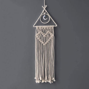 Boho Crescent Macrame Dreamcatcher - Tapestry Girls