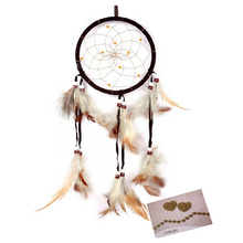 Load image into Gallery viewer, Brown Feather Dreamcatcher - Tapestry Girls