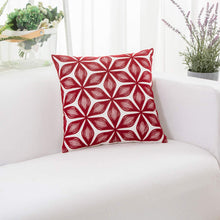 Load image into Gallery viewer, Burgundy Rhombus Pillow - Tapestry Girls