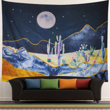 Load image into Gallery viewer, Cactus Night Tapestry - Tapestry Girls