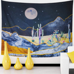 Cactus Night Tapestry - Tapestry Girls