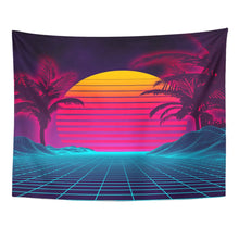 Load image into Gallery viewer, Miami Retro Tapestry - Tapestry Girls