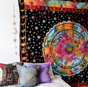 Colorful Zodiac Tapestry - Tapestry Girls