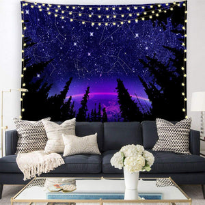 Constellation Forest Tapestry - Tapestry Girls