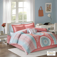 Load image into Gallery viewer, The Floral Paisley Coral Bed Set - Tapestry Girls