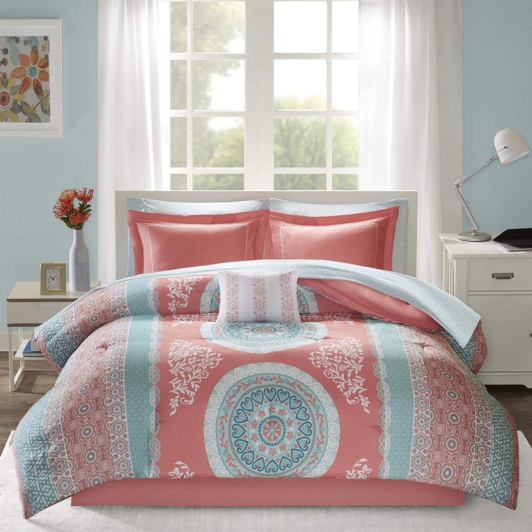 The Floral Paisley Coral Bed Set - Tapestry Girls