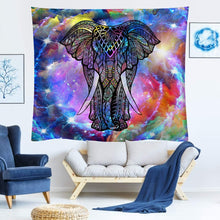 Load image into Gallery viewer, Cosmic Elephant Tapestry - Tapestry Girls
