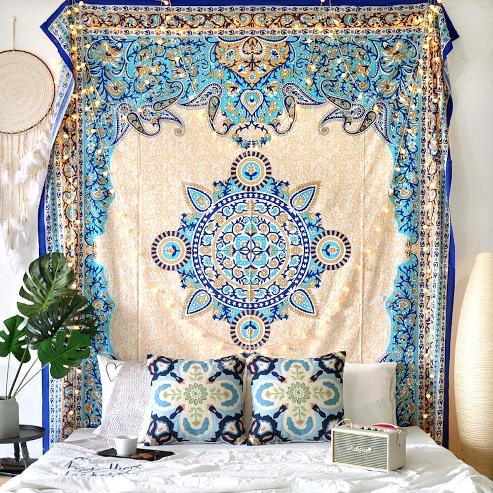 Creme Medallion Tapestry