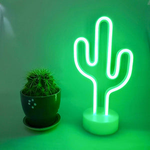 12 Inch Mini Neon Cactus - Tapestry Girls