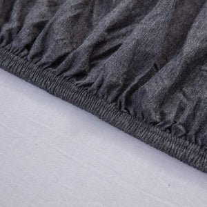 The Loft Dark Gray Fitted Sheet Set - Tapestry Girls