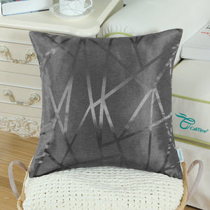 Metallic Décor Dark Grey Pillows - Tapestry Girls