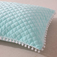 Load image into Gallery viewer, Diamond Mint Pom Pom Pillows - Tapestry Girls
