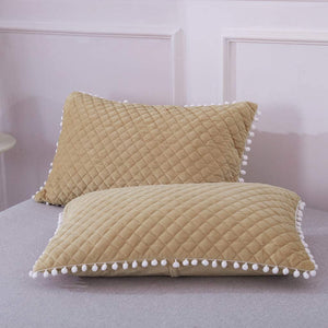 Diamond Pom Pom Pillows - Tapestry Girls