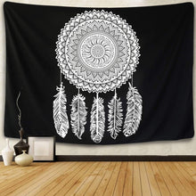 Load image into Gallery viewer, Black Dream Catcher Tapestry - Tapestry Girls