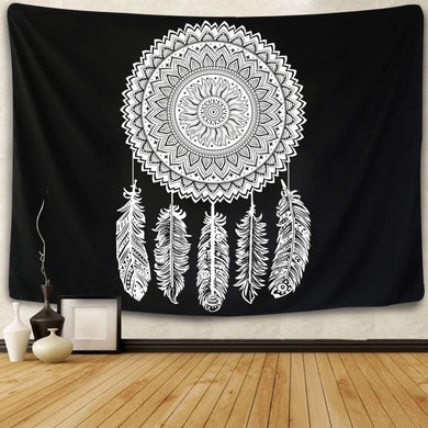 Black Dream Catcher Tapestry - Tapestry Girls