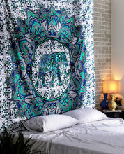 Load image into Gallery viewer, Elephant Blue Tapestry - Tapestry Girls