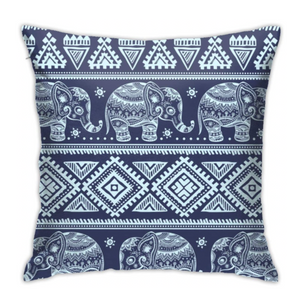 Elephant Blue Pillow - Tapestry Girls