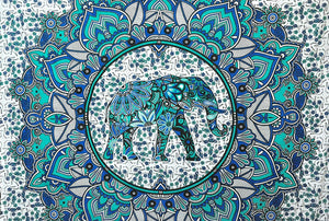 Elephant Blue Tapestry - Tapestry Girls