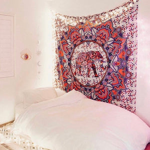 Pink Elephant Tapestry - Tapestry Girls