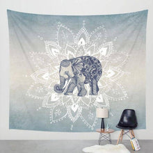 Load image into Gallery viewer, Native Grey Elephant Tapestry - Tapestry Girls