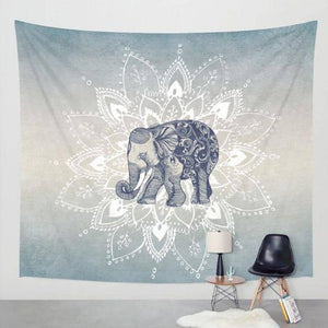 Native Grey Elephant Tapestry - Tapestry Girls