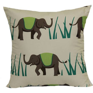 Elephant Green Pillow - Tapestry Girls