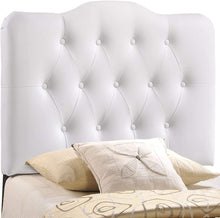 Load image into Gallery viewer, Emily White Tufted Headboard - Tapestry Girls