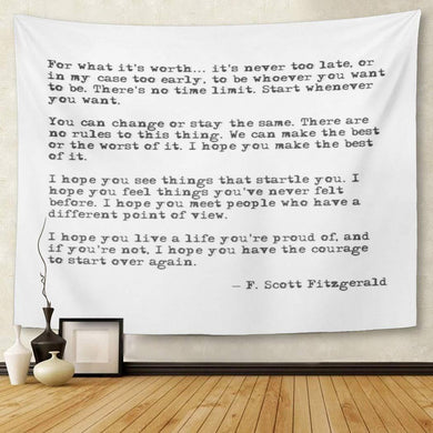 F. Scott Fitzgerald Tapestry - Tapestry Girls