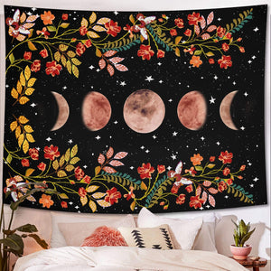Floral Moon Tapestry