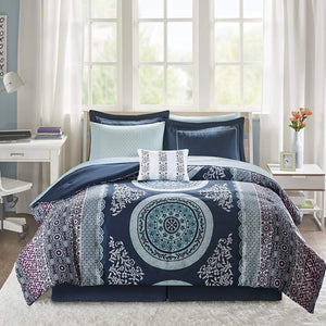 The Floral Paisley Blue Bed Set - Tapestry Girls