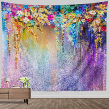 Load image into Gallery viewer, Floral Rainbow Tapestry