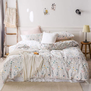 The Floral White Bed Set - Tapestry Girls