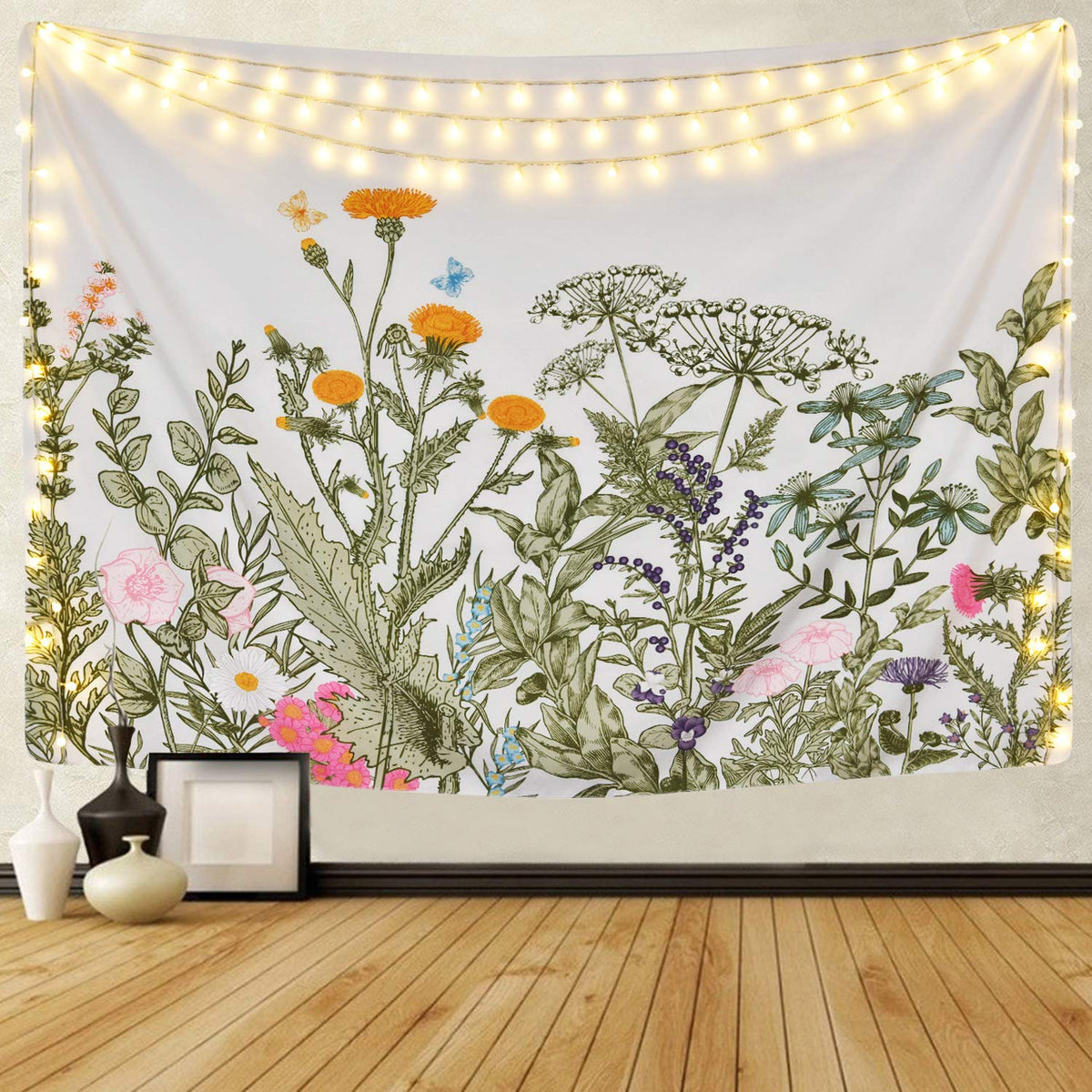 Floral Plants Tapestry Floral Tapestry Tapestry Girls