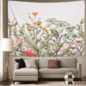 Floral Plants Tapestry - Tapestry Girls