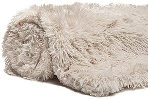 Beige Fur Throw and Pillow Set - Tapestry Girls