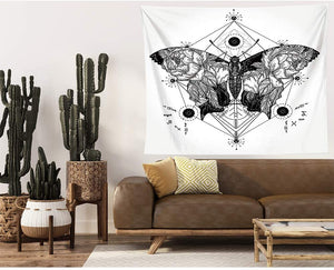 Geometric Butterfly Tapestry - Tapestry Girls