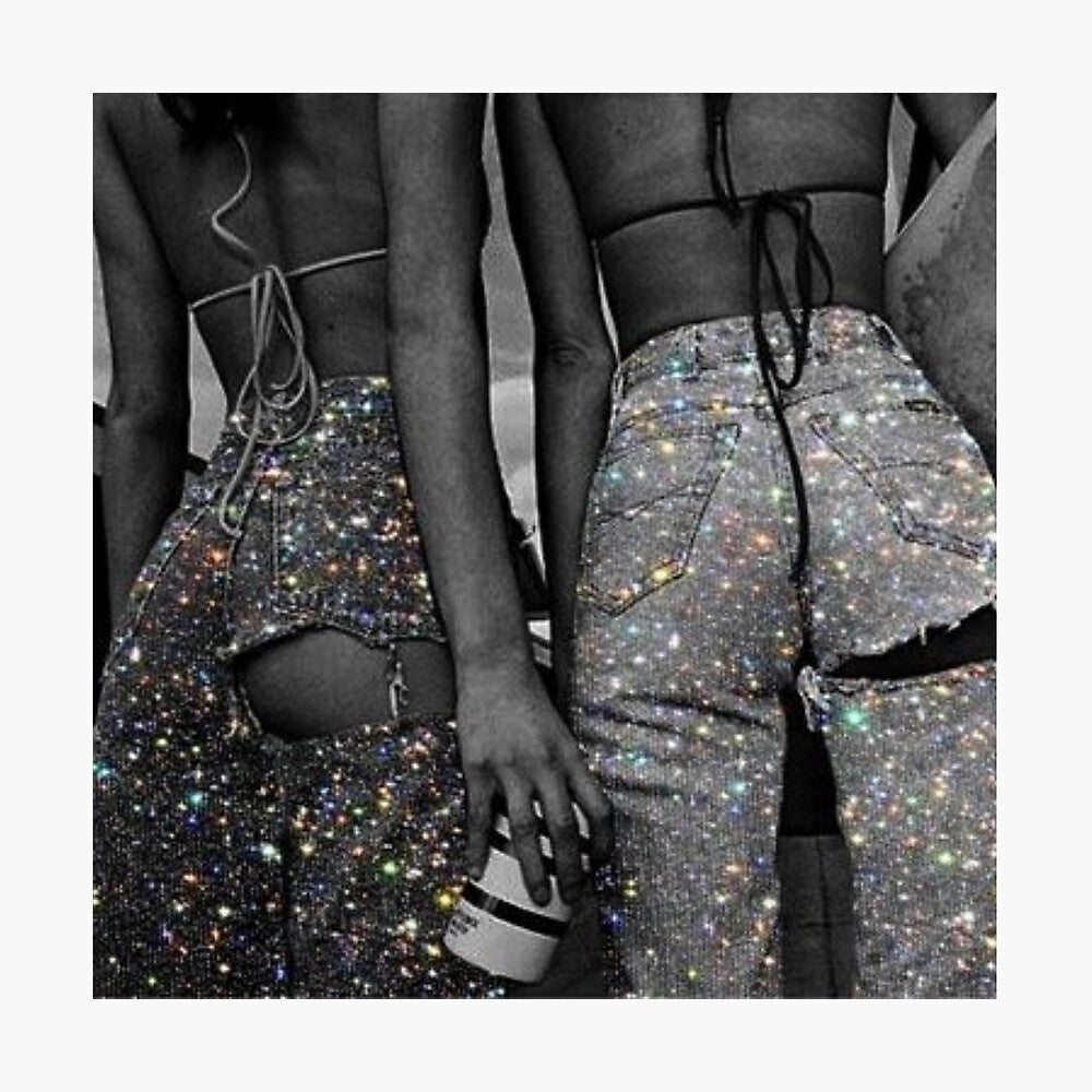 Glitter Bottom Jeans Poster - Tapestry Girls
