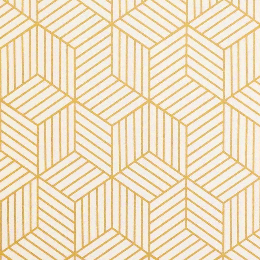Gold Geometric Removable Wallpaper - Tapestry Girls