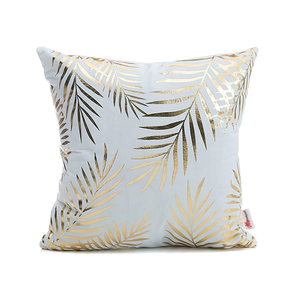 Gold Feather Pillow - Tapestry Girls
