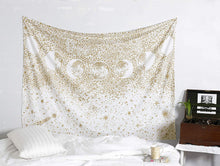 Load image into Gallery viewer, Gold Moon Phase Tapestry - Tapestry Girls
